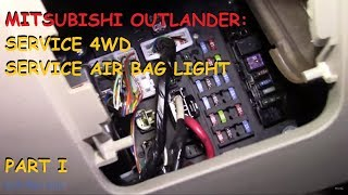 Mitsubishi Outlander: Service 4wd / Air Bag light - PART I