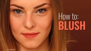 How to apply blush on a pointed chin