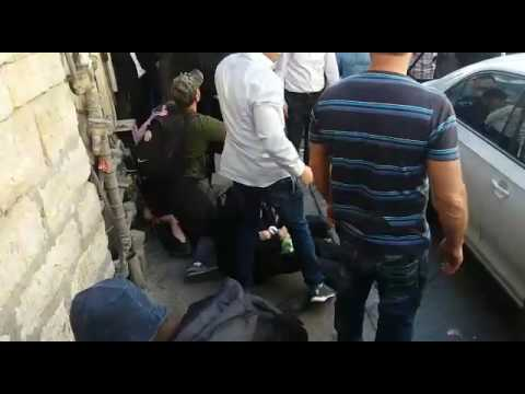 Soldier attacked in Meah Shearim (via Media Resource Group)