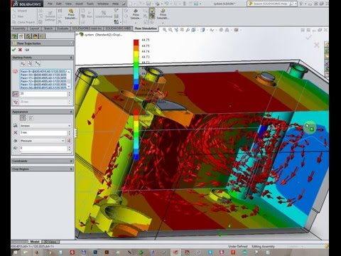Solidworks  Flow simulation of an sealed system
