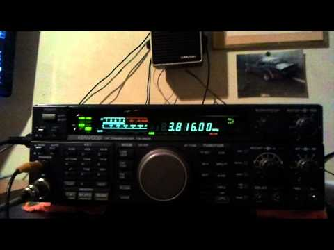 Kenwood ts 450 running with power sdr  ham radio