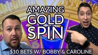 BIG WIN 💰 $10 Max Bet on Wheel of Fortune GOLD Spins