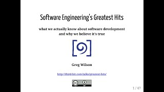 Software Engineering's Greatest Hits