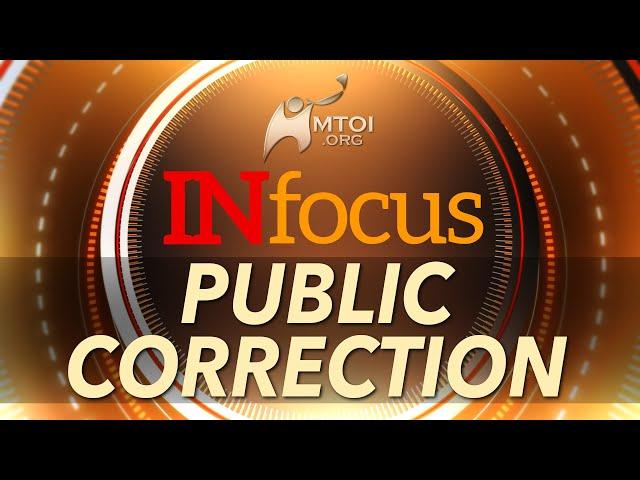 INFOCUS: Public Correction