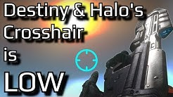 The clever reason why Halo and Destiny LOWER their crosshairs | Halo and Destiny's design