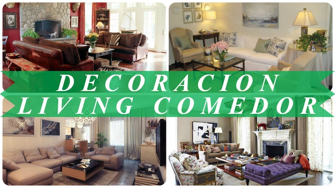 Ideas de decoracion de interiores living comedor - YouTube