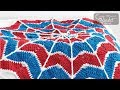 Crochet Spiderweb Blanket - 12 Point Star
