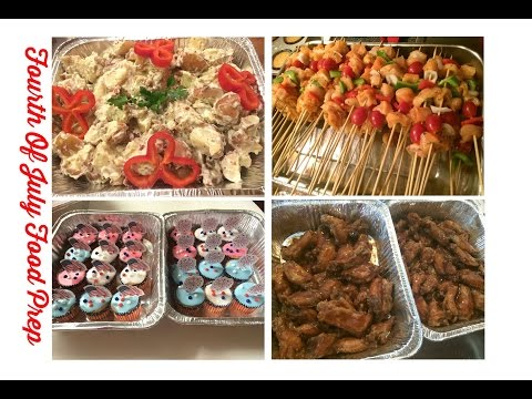 Fourth Of July Food Prep (2015) LOTS OF DELICIOUS FOOD...