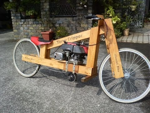 Wooden motorcycle making  - YouTube