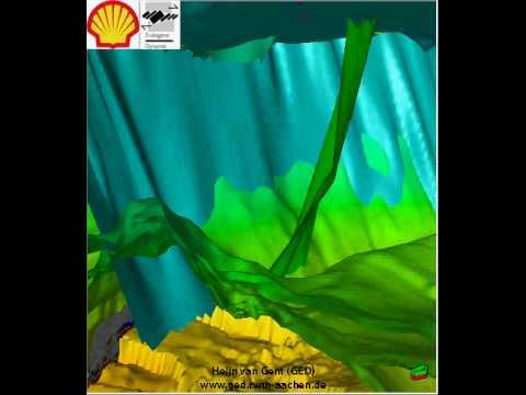Seismic Flythrough (Structural Geology, seismic interpretation)