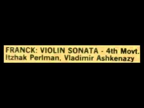 Franck / Perlman / Ashkenazy, 1968: Violin Sonata in A major, Movement 4