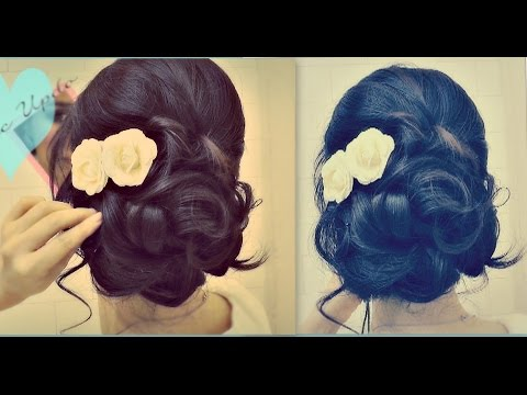 Easy Wedding Updo Hairstyles With Curls