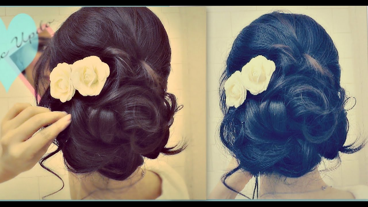 ☆ Easy Wedding Updo with Curls | Prom Hairstyles Hair Tutorial ...