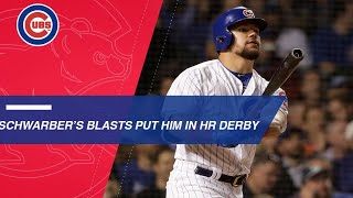 Kyle Schwarber mashes 17 homers on way to HR Derby