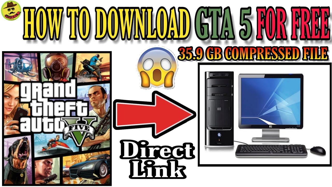 How to Download GTA 5 Full Game Highly Compressed(35 GB) File for Free!  Direct Link!