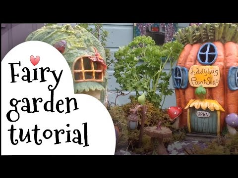 Miniature Fairy Garden Tutorial. How To Make A Cute Miniature Fairy Herb Garden