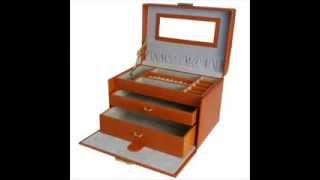 Orange Jewelry Box With Travel Case Tech Swiss; Travel Jewelry Boxes, Unique Jewelry Box