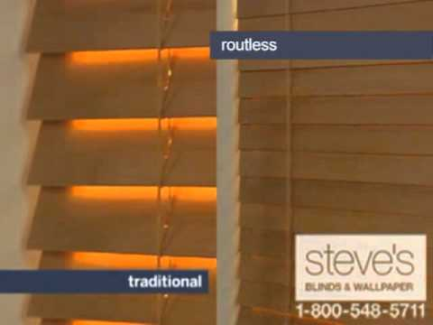 Kirsch Faux and Wood Blinds with Routeless Privacy Feature YouTube