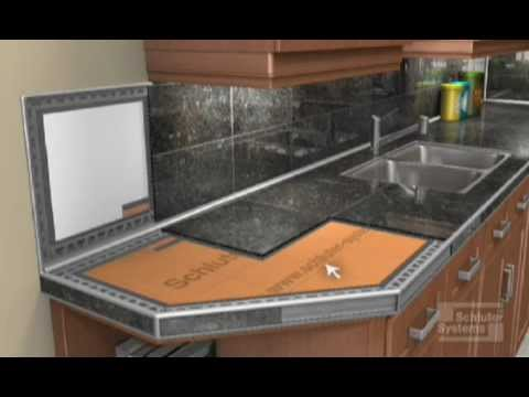 how to build a tile countertop from scratch
