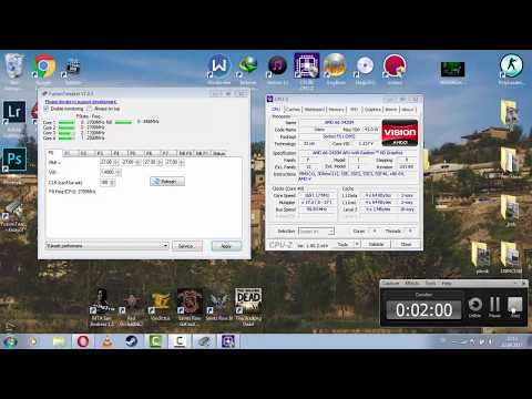 How To; Overclocking AMD Apu - A6-3420M