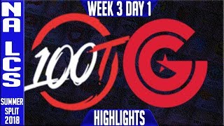 Video 100 vs CG Highlights | NA LCS Summer 2018 Week 3 Day 1 | 100 Thieves vs Clutch Gaming download MP3, 3GP, MP4, WEBM, AVI, FLV Juli 2018