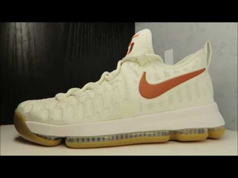 quality design 7c1b1 44d75 KEVIN DURANT NIKE KD 9 TEXAS LONGHORNS PE SNEAKER BY COUNTRY DELZ