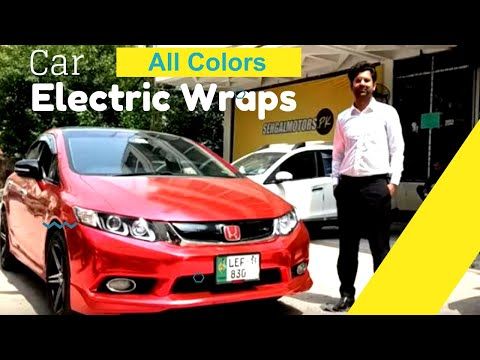 Car Wrapping In Electric Red