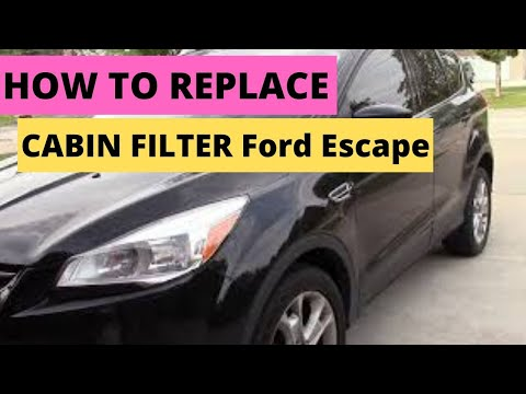 "How to Replace ""Cabin Air Filter"" 2013-2017 Ford Escape"
