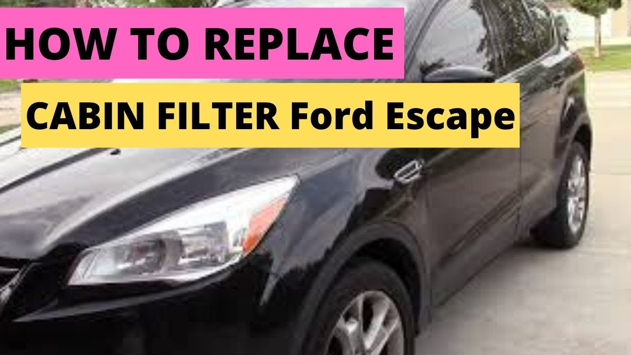 How To Replace Cabin Air Filter 2013 2017 Ford Escape Youtube