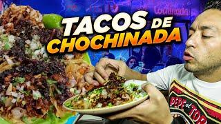 Tacos don beto los de cochinada (residuos tatemados de bistec, longaniza y suadero)