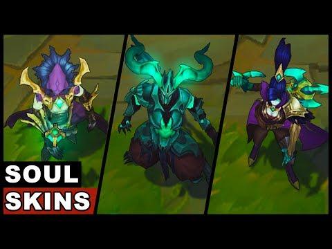 All Soulhunter Soulstealer Soul Reaver Skins Kayn Vayne Vladimir Draven (League of Legends)