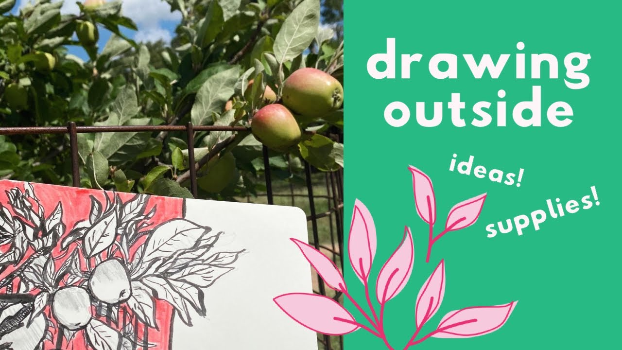 Drawing Outside | What I Pack & Helpful Drawing Tips