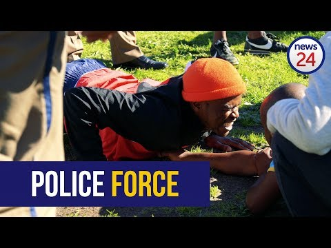 WATCH: Sweat And Tears As Thousands Vie For Metro Cop Jobs