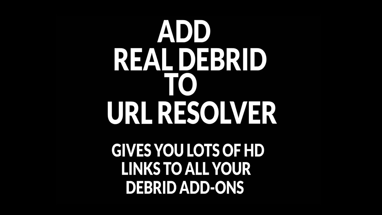 How to add Real Debrid to URL Resolver in Kodi, SPMC and all Kodi forks.