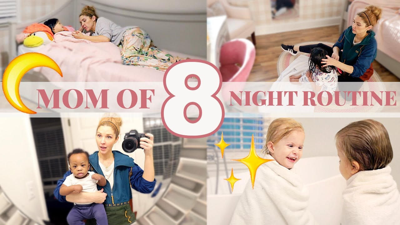 MOM OF 8 KIDS NIGHT TIME ROUTINE \\ Big Family Bedtime Routine 2020
