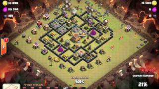 Clash of Clans - 3star - TH9 vs TH8 with Baloonion