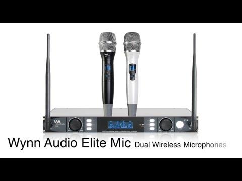 Wynn Audio Elite Mic Professional Karaoke Dual Wireless Microphones