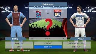 Trabzonspor vs Olympique Lyon, Şenol Güneş Stadium, pes, pro evolution soccer, Konami,