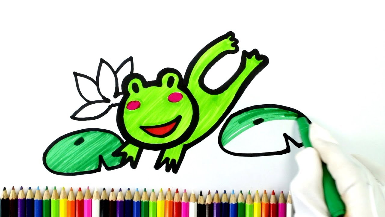 Learn How to Draw a Jumping Frog Coloring Pages for Kids ...