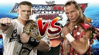 WWE Smackdown vs Raw 2008 John Cena vs Shawn Micheals