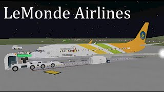 ROBLOX | LeMonde Airlines Boeing 737-800 (FanMonde) Flight