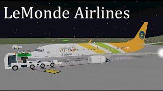 ROBLOX | LeMonde Airlines Boeing 737-800 (FanMonde) Flug