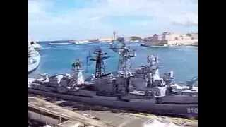 Royal Navy and Russian Navy ships in Malta 12 November 2013