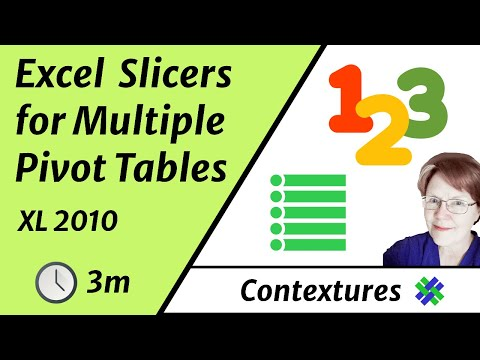 Connect Slicers to Multiple Excel 2010 Pivot Tables - YouTube - pivot table in excel