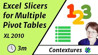 Connect Slicers to Multiple Excel 2010 Pivot Tables thumbnail