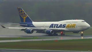 RARE! Atlas Air Boeing 747-400 WET Landing at Berlin Tegel Airport (TXL) | N464MC