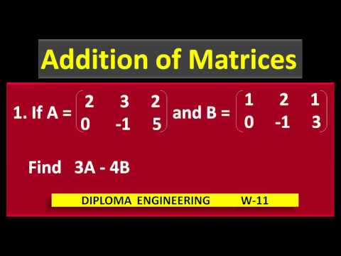 3.5 If  A  And B Are Given Matrices, Find 3A - 4B