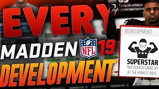 EVERY Player in Madden NFL 19 with SUPERSTAR Development!