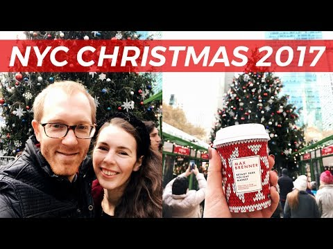 Bryant Park Winter Village 2017 // Christmas in New York Episode 1