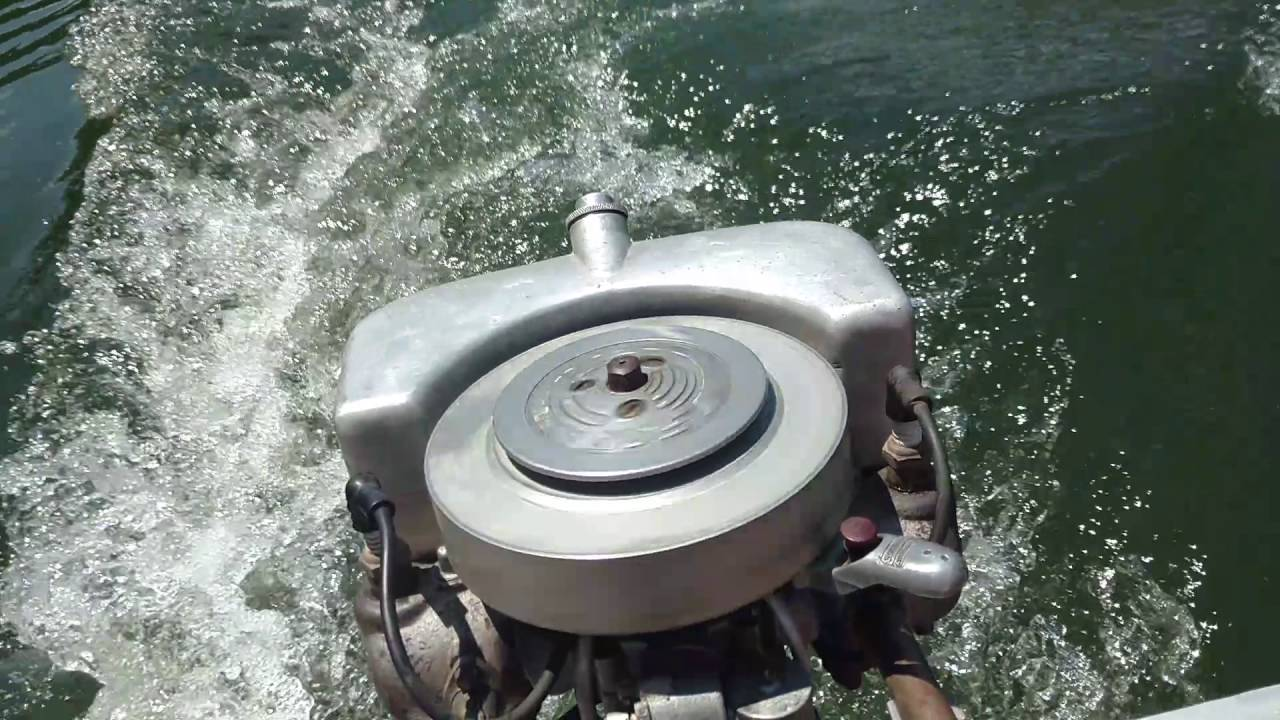1928 johnson a35 antique outboard boat motor youtube for Outboard motor for canoe